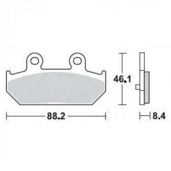 Колодки тормозные Braking BR 896SM1