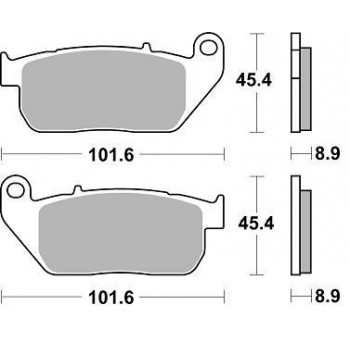 Колодки тормозные Braking BR 900CM77