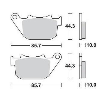 Колодки тормозные Braking BR 901CM88