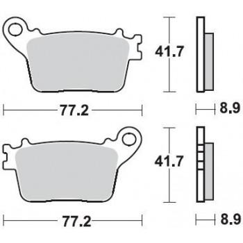 Колодки тормозные Braking BR 925SM1