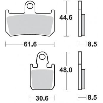 Колодки тормозные Braking BR 928CM55