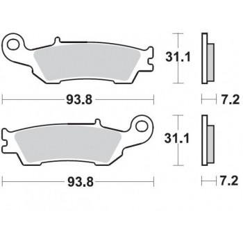 Колодки тормозные Braking BR 929CM46