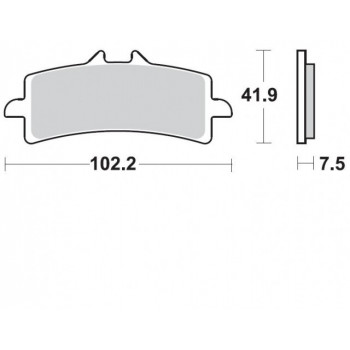 Колодки тормозные Braking BR 930CM55