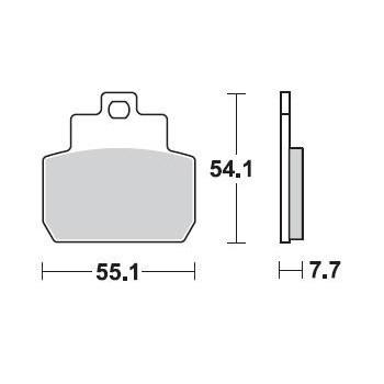 Колодки тормозные Braking BR 931CM55