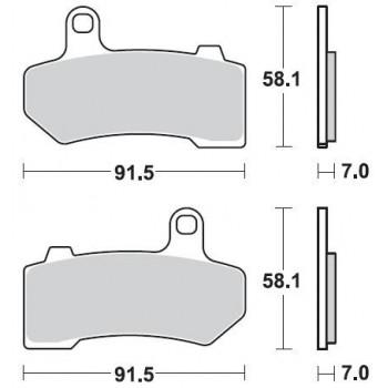 Колодки тормозные Braking BR 934CM77