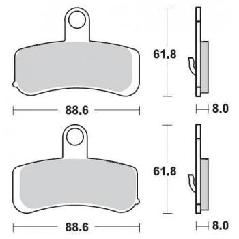 Колодки тормозные Braking BR 943CM77