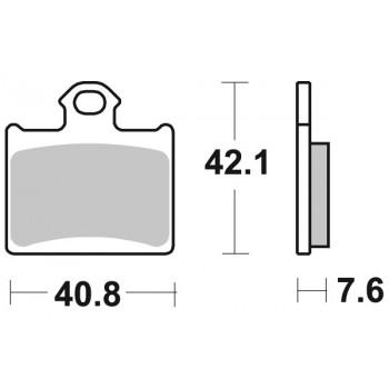 Колодки тормозные Braking BR 949CM44
