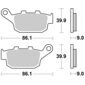 Колодки тормозные Braking BR 956CM56