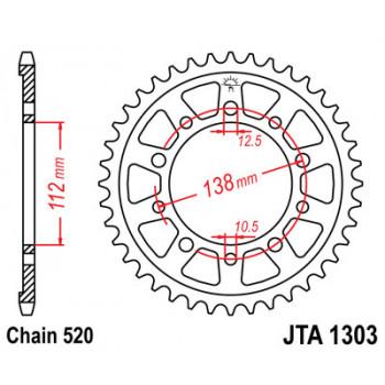 Звезда задняя легкосплавная JT Sprockets JTA1303.48
