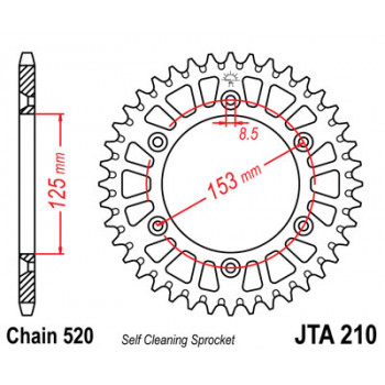 Звезда задняя легкосплавная JT Sprockets JTA210.51