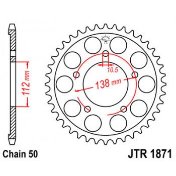 Звезда задняя легкосплавная JT Sprockets JTA251.50