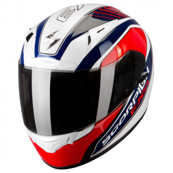 Мотошлем Scorpion Exo-2000 Air Performer Type E11 Pearl White-Blue-Red L