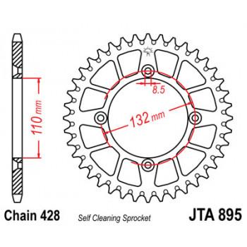 Звезда задняя легкосплавная JT Sprockets JTA895.50