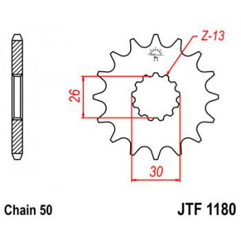 Звезда передняя JT Sprockets JTF1180.17