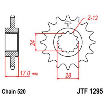 Звезда передняя JT Sprockets JTF1295.15