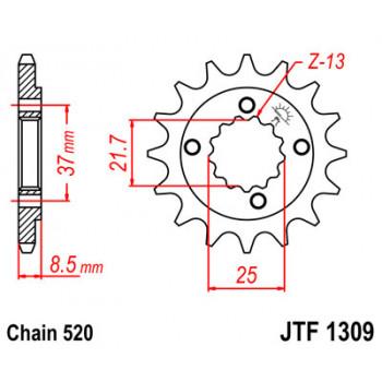 Звезда передняя JT Sprockets JTF1309.15