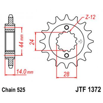 Звезда передняя JT Sprockets JTF1372.17