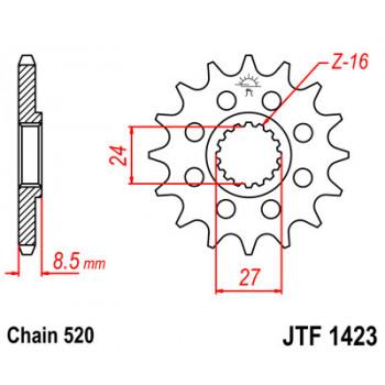 Звезда передняя JT Sprockets JTF1423.17