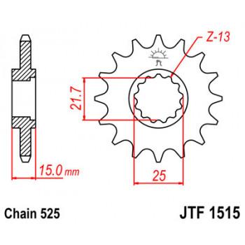 Звезда передняя JT Sprockets JTF1515.15
