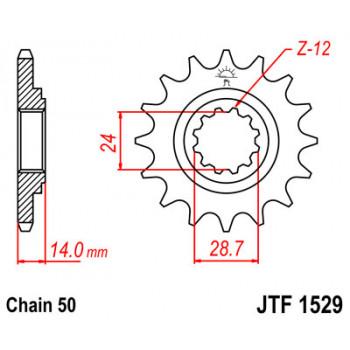 Звезда передняя JT Sprockets JTF1529.17