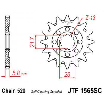 Звезда передняя JT Sprockets JTF1565.13SC