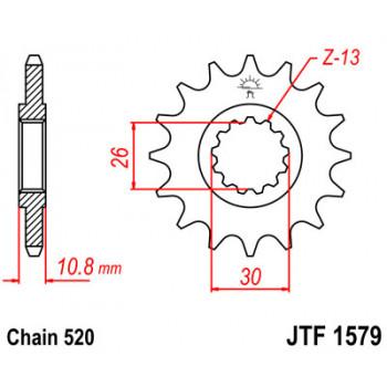 Звезда передняя JT Sprockets JTF1579.16