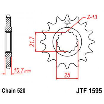 Звезда передняя JT Sprockets JTF1595.16