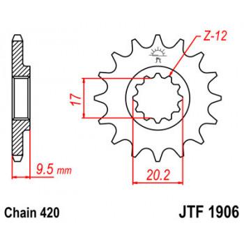 Звезда передняя JT Sprockets JTF1906.14