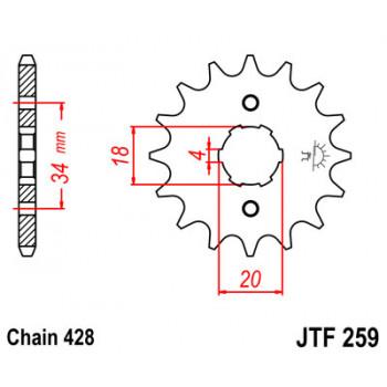 Звезда передняя JT Sprockets JTF259.14
