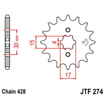 Звезда передняя JT Sprockets JTF274.14