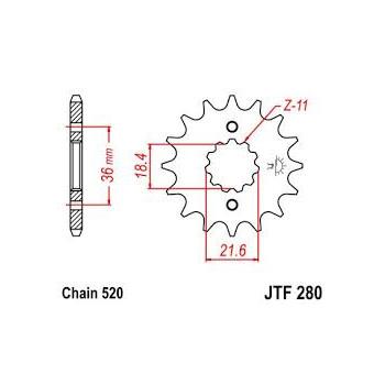 Звезда передняя JT Sprockets JTF280.13