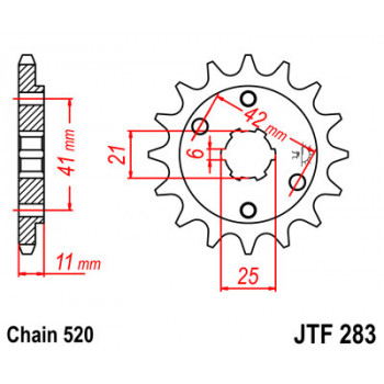 Звезда передняя JT Sprockets JTF283.14