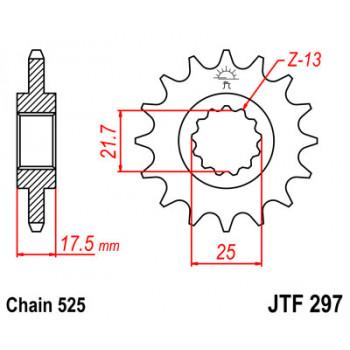 Звезда передняя JT Sprockets JTF297.16