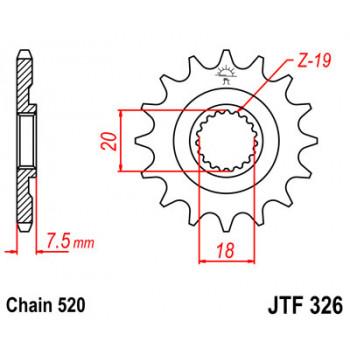 Звезда передняя JT Sprockets JTF326.13