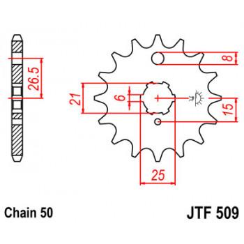 Звезда передняя JT Sprockets JTF509.15