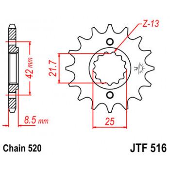 Звезда передняя JT Sprockets JTF516.16