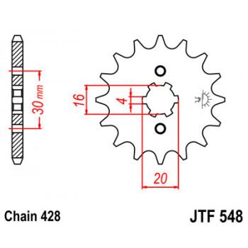 Звезда передняя JT Sprockets JTF548.13