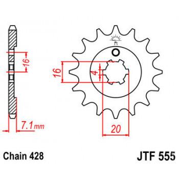 Звезда передняя JT Sprockets JTF555.14