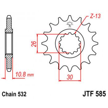 Звезда передняя JT Sprockets JTF585.17