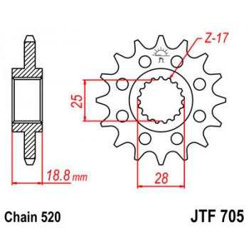 Звезда передняя JT Sprockets JTF705.16