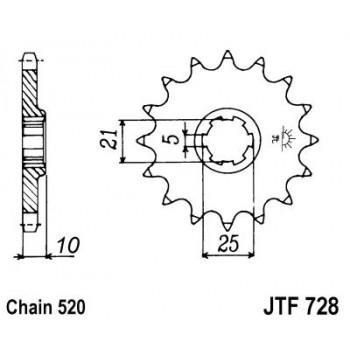 Звезда передняя JT Sprockets JTF728.15