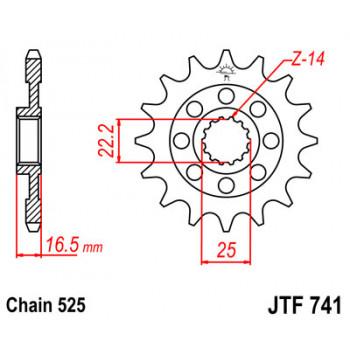 Звезда передняя JT Sprockets JTF741.15