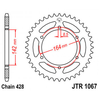 Звезда задняя JT Sprockets JTR1067.52