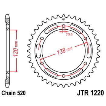 Звезда задняя JT Sprockets JTR1220.38