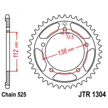 Звезда задняя JT Sprockets JTR1304.41