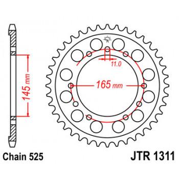Звезда задняя JT Sprockets JTR1311.45