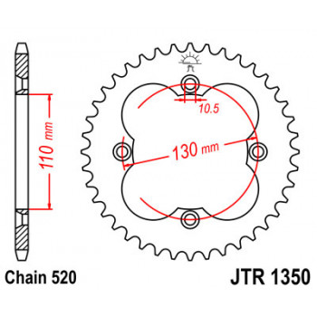 Звезда задняя JT Sprockets JTR1350.40