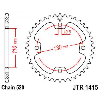 Звезда задняя JT Sprockets JTR1415.38
