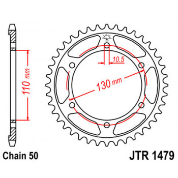 Звезда задняя JT Sprockets JTR1479.47