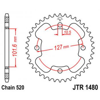Звезда задняя JT Sprockets JTR1480.38